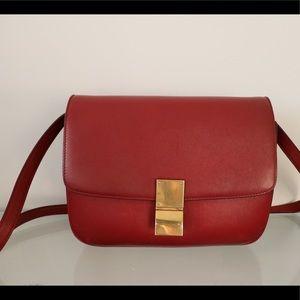 Celine Classic Box Medium Size Red